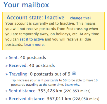 Postcrossing Stat 2 July 2014